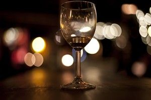 Wine Glass in Bar