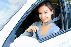Always fasten your seatbelt. Girl in a car | Seatbelt Related Injuries