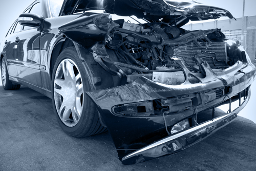 black and white photo of car after accident | Do's and Don'ts After a Car Accident