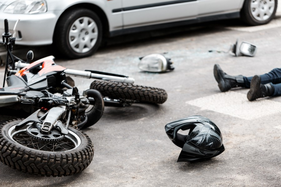 motorcyle and vehicle collision   Denver Motorcycle Accidents